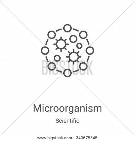 Microorganism icon isolated on white background from scientific collection. Microorganism icon trend