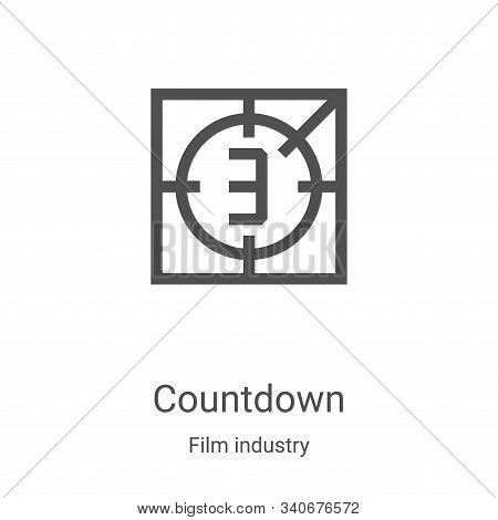 countdown icon isolated on white background from film industry collection. countdown icon trendy and