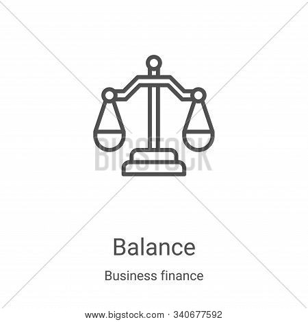 balance icon isolated on white background from business finance collection. balance icon trendy and