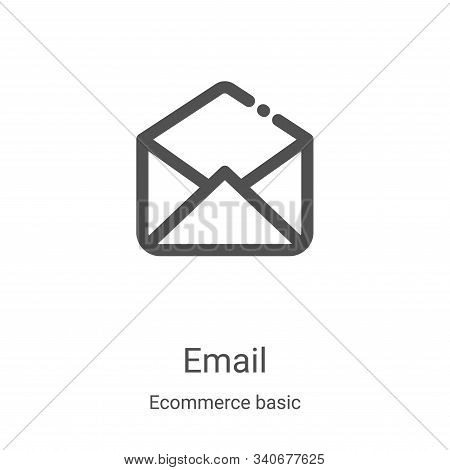 email icon isolated on white background from ecommerce basic collection. email icon trendy and moder