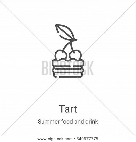 tart icon isolated on white background from summer food and drink collection. tart icon trendy and m