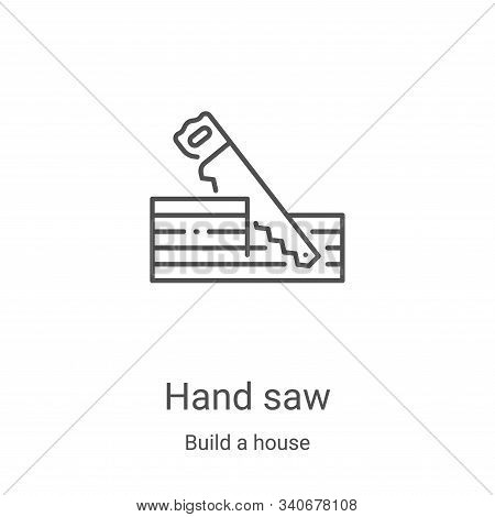 hand saw icon isolated on white background from build a house collection. hand saw icon trendy and m