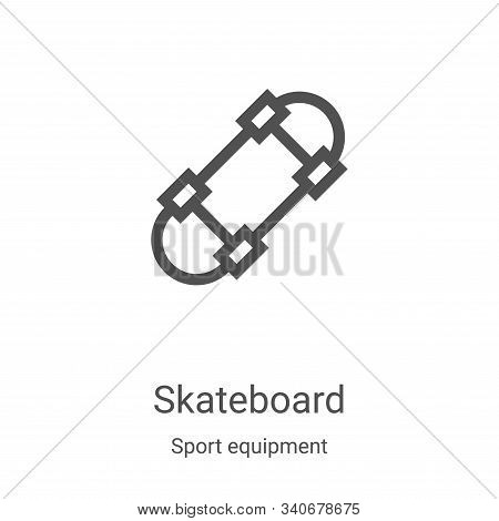 skateboard icon isolated on white background from sport equipment collection. skateboard icon trendy