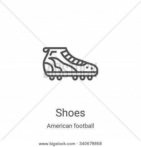 shoes icon isolated on white background from american football collection. shoes icon trendy and mod
