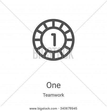 one icon isolated on white background from teamwork collection. one icon trendy and modern one symbo