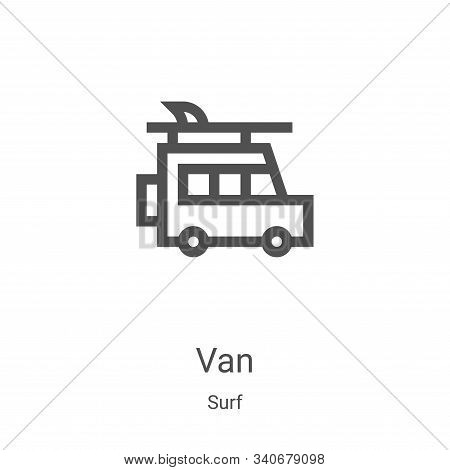 van icon isolated on white background from surf collection. van icon trendy and modern van symbol fo