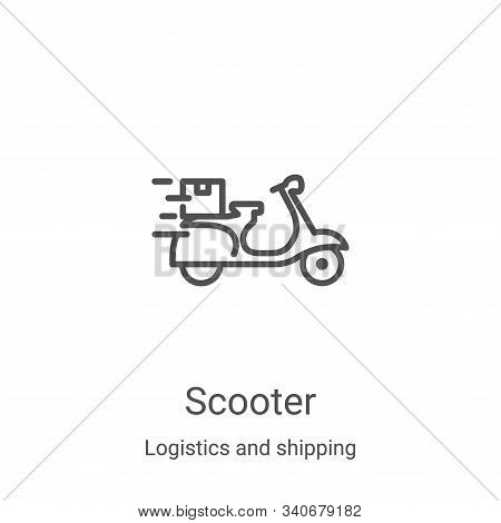 scooter icon isolated on white background from logistics and shipping collection. scooter icon trend