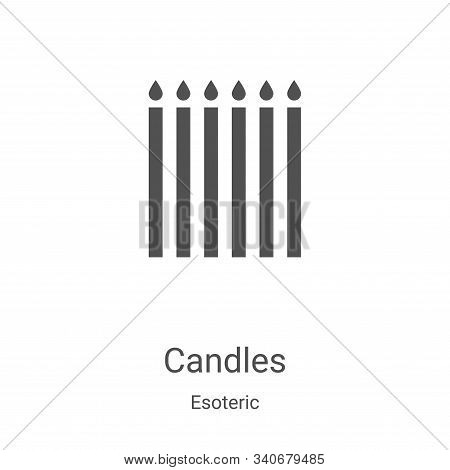 candles icon isolated on white background from esoteric collection. candles icon trendy and modern c