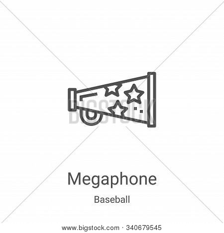 megaphone icon isolated on white background from baseball collection. megaphone icon trendy and mode