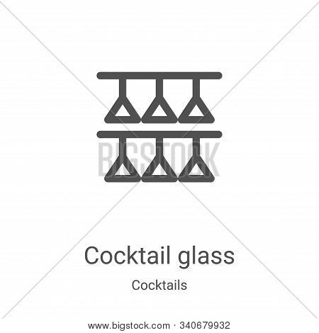 cocktail glass icon isolated on white background from cocktails collection. cocktail glass icon tren