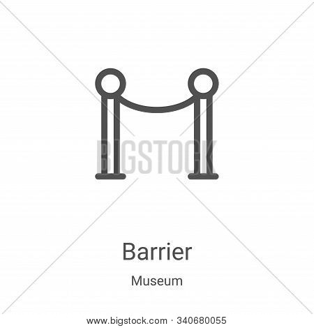 barrier icon isolated on white background from museum collection. barrier icon trendy and modern bar