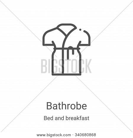 bathrobe icon isolated on white background from bed and breakfast collection. bathrobe icon trendy a