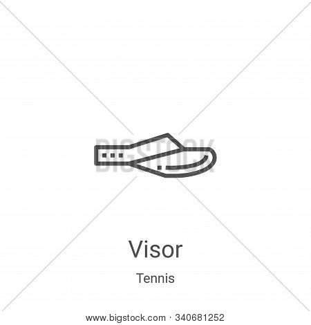 visor icon isolated on white background from tennis collection. visor icon trendy and modern visor s