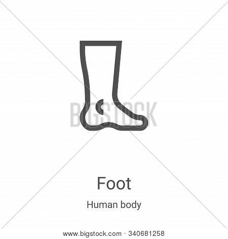 foot icon isolated on white background from human body collection. foot icon trendy and modern foot