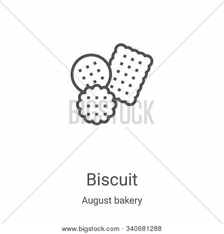 biscuit icon isolated on white background from august bakery collection. biscuit icon trendy and mod