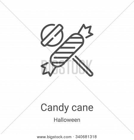 candy cane icon isolated on white background from halloween collection. candy cane icon trendy and m