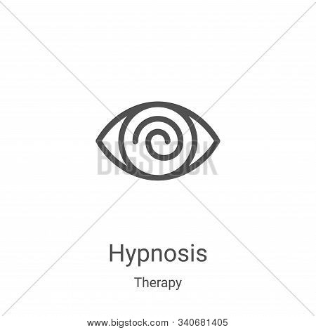 hypnosis icon isolated on white background from therapy collection. hypnosis icon trendy and modern