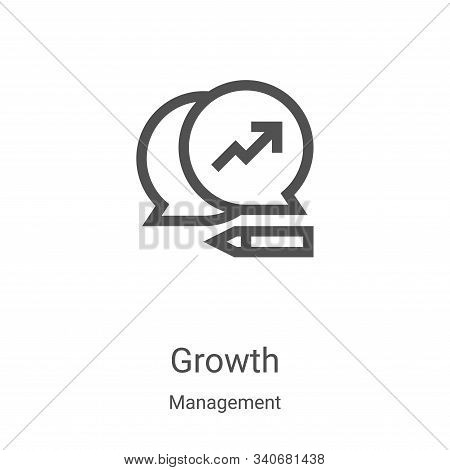 growth icon isolated on white background from management collection. growth icon trendy and modern g