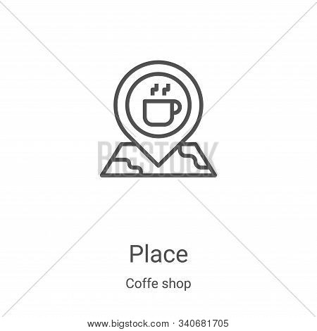 place icon isolated on white background from coffe shop collection. place icon trendy and modern pla