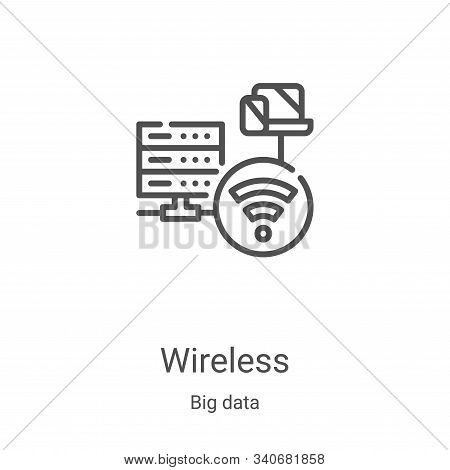 wireless icon isolated on white background from big data collection. wireless icon trendy and modern