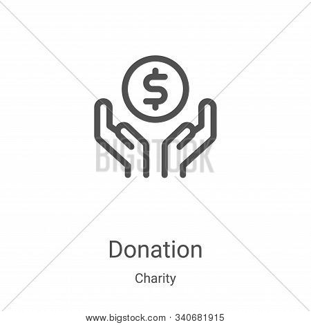 donation icon isolated on white background from charity collection. donation icon trendy and modern