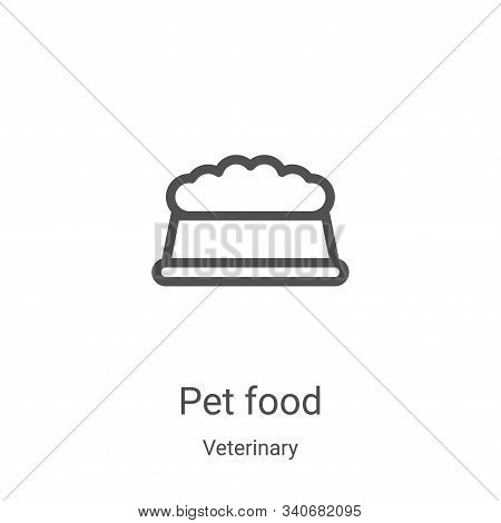 pet food icon isolated on white background from veterinary collection. pet food icon trendy and mode