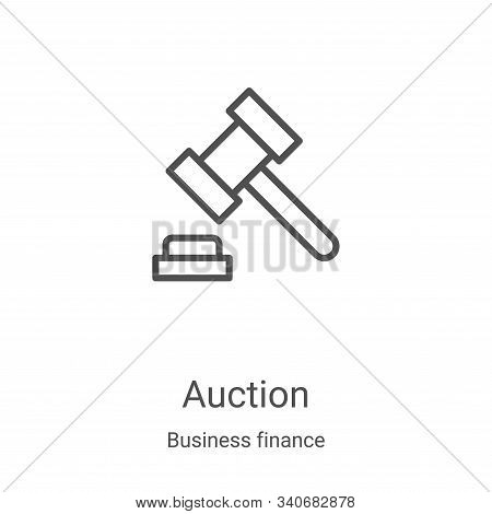 auction icon isolated on white background from business finance collection. auction icon trendy and
