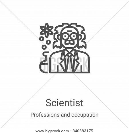 scientist icon isolated on white background from professions and occupation collection. scientist ic