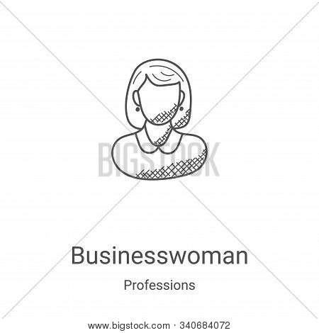 businesswoman icon isolated on white background from professions collection. businesswoman icon tren