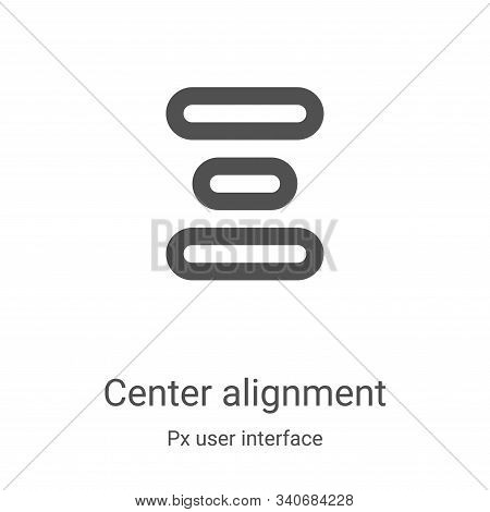center alignment icon isolated on white background from px user interface collection. center alignme