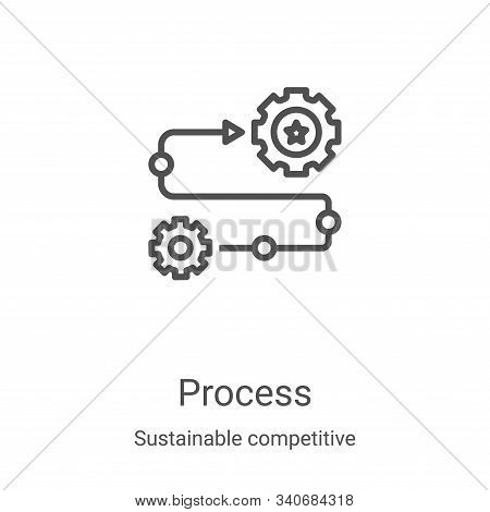 process icon isolated on white background from sustainable competitive advantage collection. process