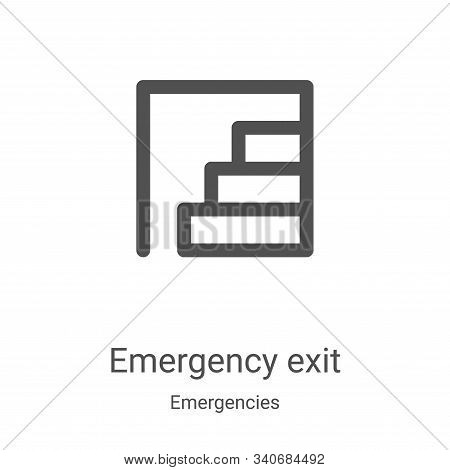 Emergency exit icon isolated on white background from emergencies collection. Emergency exit icon tr