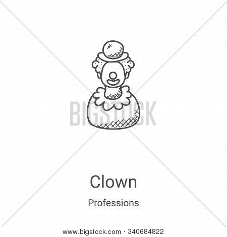 clown icon isolated on white background from professions collection. clown icon trendy and modern cl