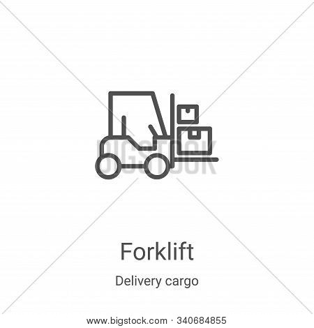forklift icon isolated on white background from delivery cargo collection. forklift icon trendy and