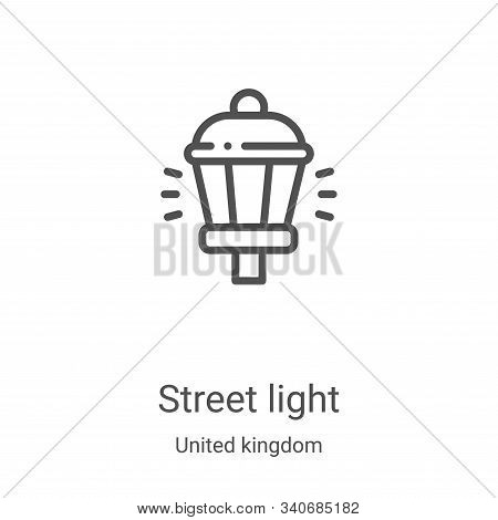 street light icon isolated on white background from united kingdom collection. street light icon tre