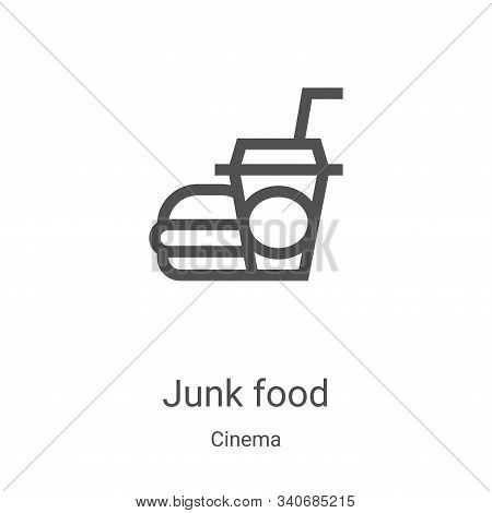 junk food icon isolated on white background from cinema collection. junk food icon trendy and modern