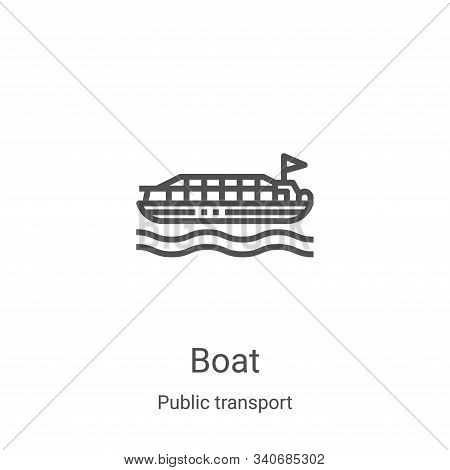 boat icon isolated on white background from public transport collection. boat icon trendy and modern