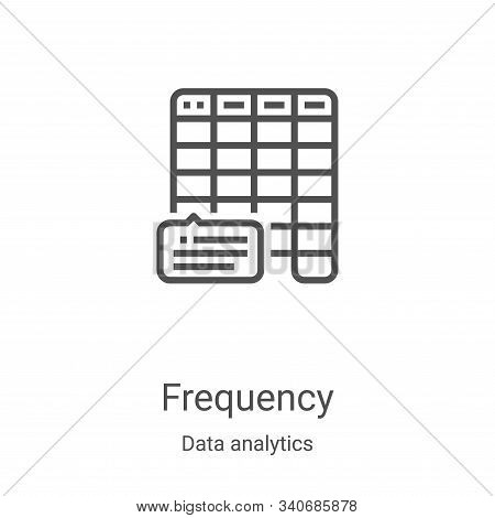 frequency icon isolated on white background from data analytics collection. frequency icon trendy an