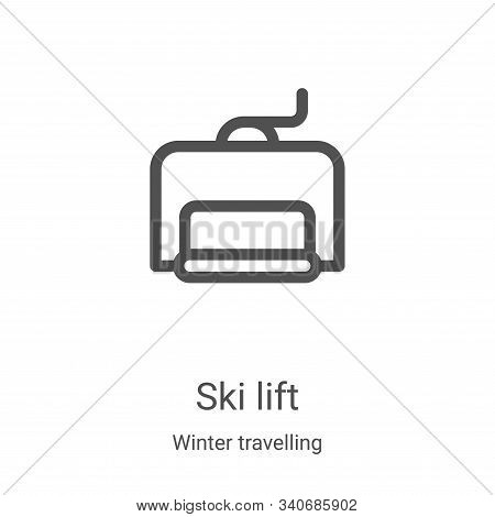 ski lift icon isolated on white background from winter travelling collection. ski lift icon trendy a