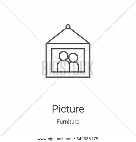 picture icon isolated on white background from furniture collection. picture icon trendy and modern