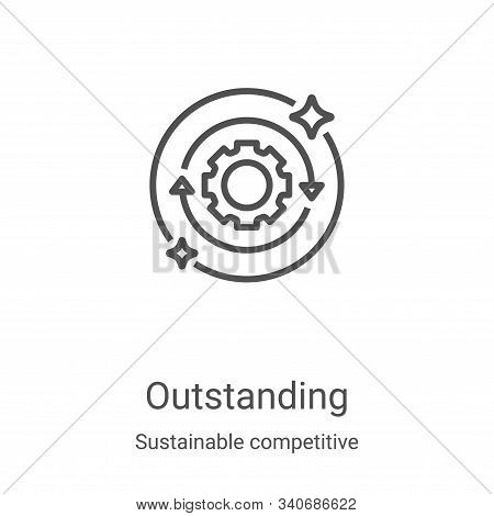 outstanding icon isolated on white background from sustainable competitive advantage collection. out