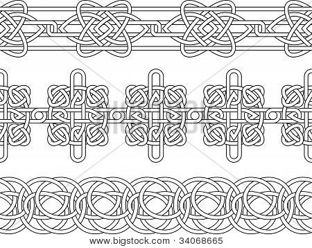 Celtic border pattern