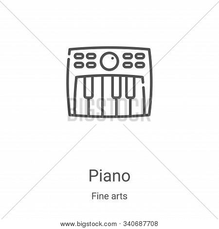 piano icon isolated on white background from fine arts collection. piano icon trendy and modern pian