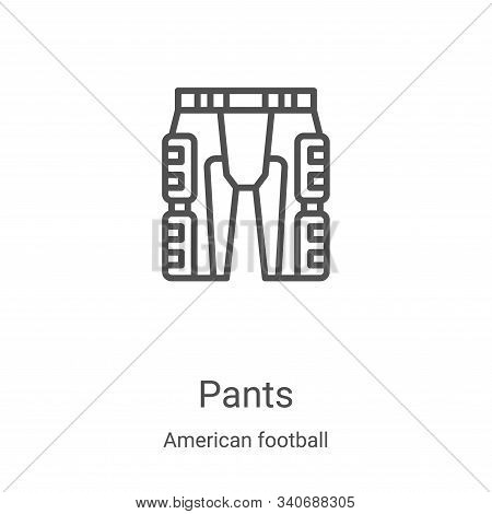 pants icon isolated on white background from american football collection. pants icon trendy and mod
