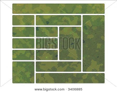 Green Jungle British DPM Style Military Camouflage Effect Web Interface Buttons poster