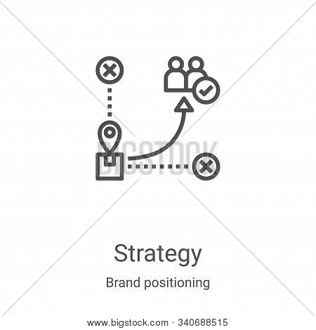 strategy icon isolated on white background from brand positioning collection. strategy icon trendy a