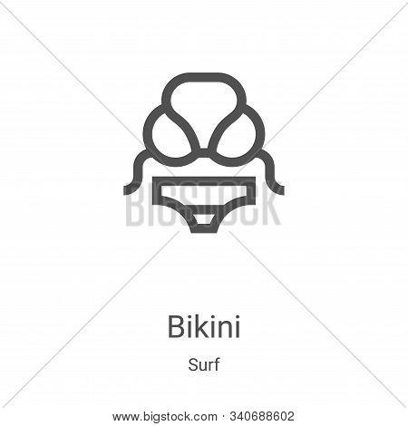 bikini icon isolated on white background from surf collection. bikini icon trendy and modern bikini