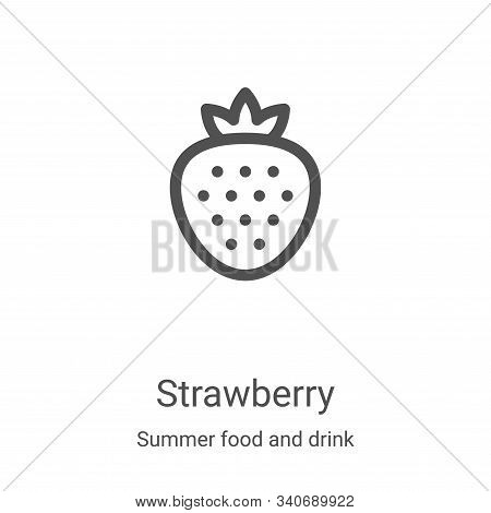 strawberry icon isolated on white background from summer food and drink collection. strawberry icon