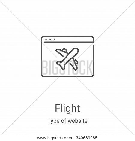 flight icon isolated on white background from type of website collection. flight icon trendy and mod