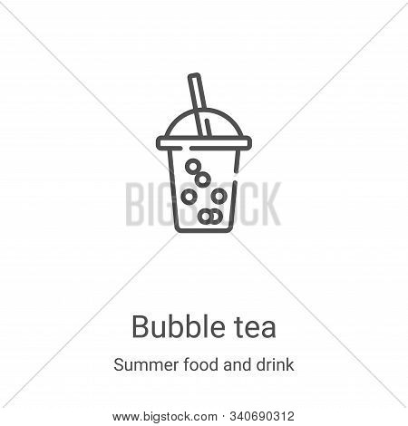 bubble tea icon isolated on white background from summer food and drink collection. bubble tea icon